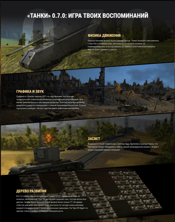 Cкачать World of Tanks Classic 0.7.0