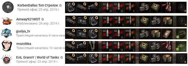 Снаряды Т 103